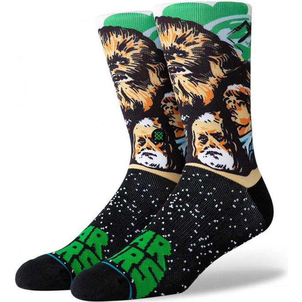 U558D19CHE.GRN, Green, Chewbacca, Star Wars, Mens Crew Socks