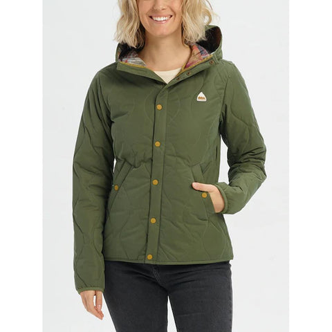 21465100300-Keef, Green, Burton, Kiley Hooded Insulated Jacket, Womens Jackets, Womens Outerwear, Winter 2020, Front View