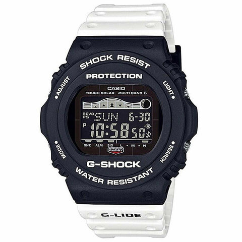 GS-GWX5700SSN-1, G-SHOCK, UNISEX WATCHES, WHITE BAND WITH BLACK FACE, DIGITAL WATCH
