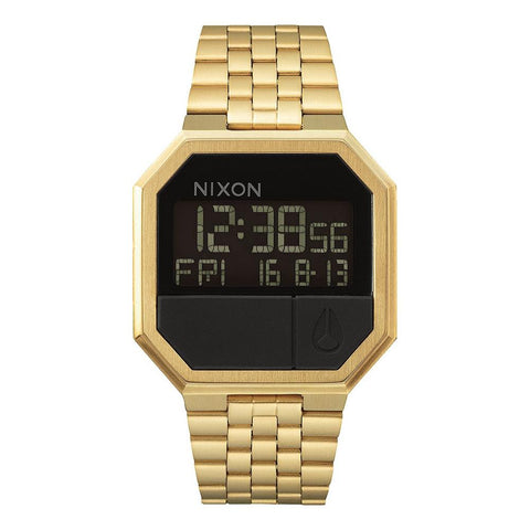 A158-502-00, ALL GOLD, NIXON, THE RE-RUN, MENS WATCHES, MENS METAL BAND WATCHES, WINTER 2019