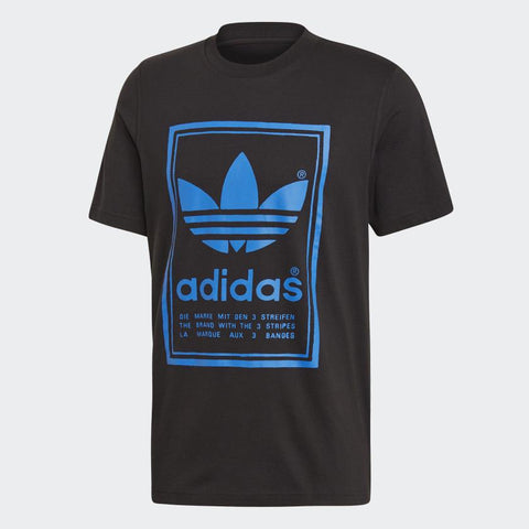 Adidas,Vintage Tee, Black,Short Sleeves,M,L,Front View