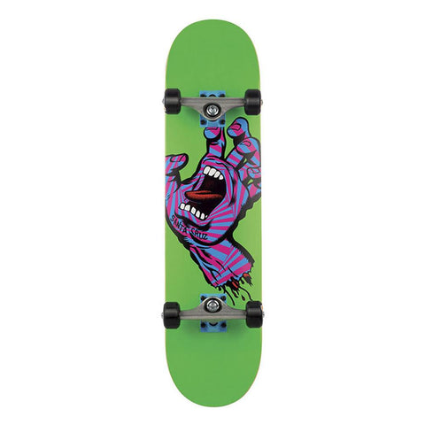 11114924, Santa Cruz, Screaming Party Hand, Complete Skateboard, Green, Purple, 7.75