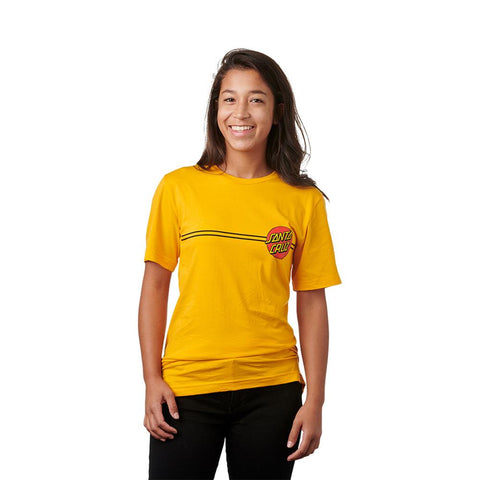 44151288, Santa Cruz, Classic Dot Tee, Gold, Womens T-Shirts, Short Sleeve Shirts, Fall 2019