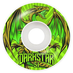 10112345-GRN-51, 51MM, DARKSTAR, GREEN, LEVITATE WHEELS, SKATE WHEELS