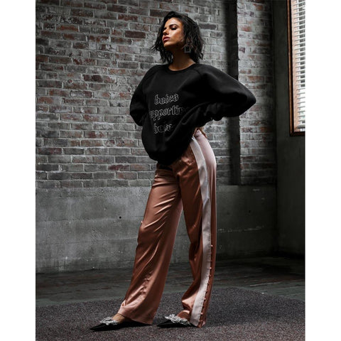BTL158-ABLK, ACID WASH BLACK, BABES SUPPORTING BABES 1981 VINTAGE BIG SISTER CREW, WOMENS CREW NECK SWEATSHIRT, BRUNETTE THE LABEL, WINTER 2019