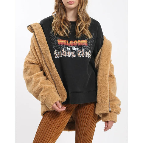 BTL168-ABLK, ACID WASH BLACK, BABES CLUB 1981 VINTAGE COLLECTION, BRUNETTE THE LABEL, WOMENS SWEATSHIRTS, WINTER 2019