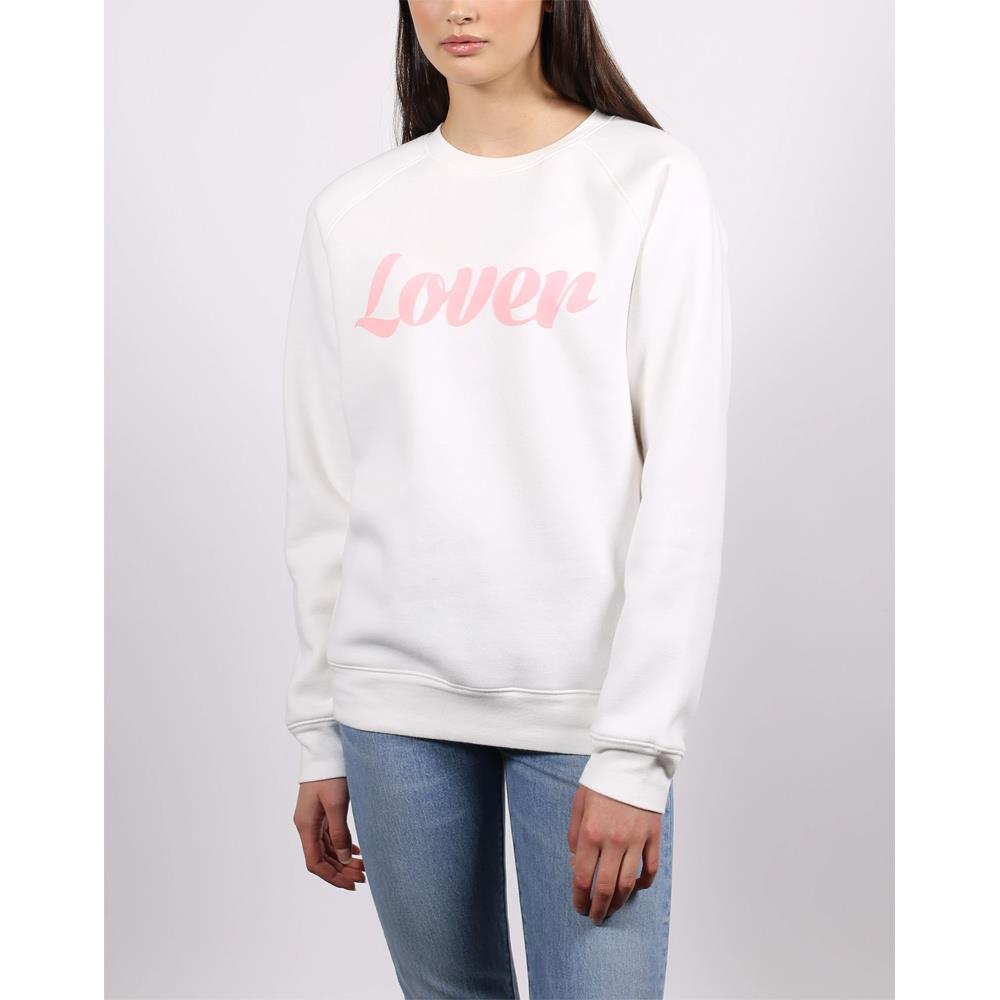 BTL149, MARSHMELLOW, BRUNETTE THE LABEL, LOVER VDAY CREW, OFF WHITE, WOMENS CREW NECK SWEATSHIRTS, SPRING 2020