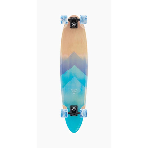 "120CP-FRCHFWC, LANDYACHTZ, SUPER CHEIF WATERCOLOR COMPLETE, LONGBOARD COMPLETES, 36"". BLUE, WOOD, SPRING 2020"
