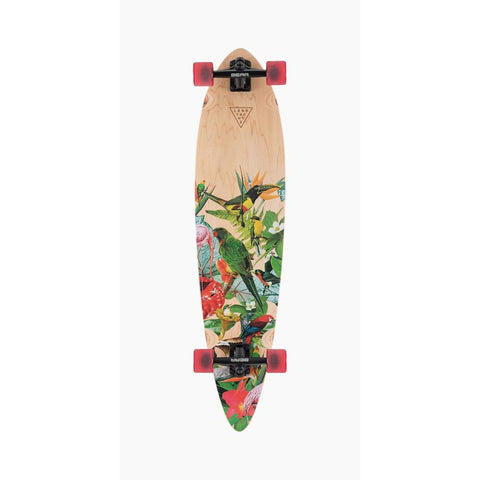 120CP-FRTOTPD, Landyachtz, Totem Paradise Complete, Longboard Complete, Spring 2020, Green Wood, Top mount longboards