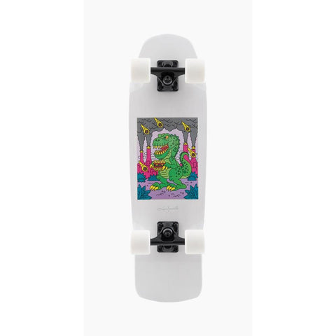 120CP-UBDYBKG, Landyachtz, Dinghy Burger King Complete, White, Longboard Complete, Mini Cruzer, Spring 2020