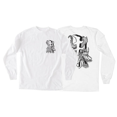 RD10078-WBK, White, Mens T-shirts Long Sleeve, RDS,