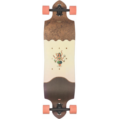 10525254, globe, geminon micro-drop, longboard complete, drop through trucks, spring 2020