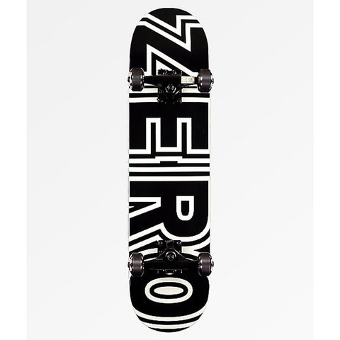 ZERO-COMP-017-BLW, BLACK AND WHITE, ZERO, BOLD, COMPLETE SKATEBOARDS, SPRING 2020