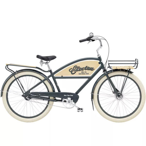 224152E, Electra, Delivery 3I Men's 26, Grey, Mens Cruiser Bikes