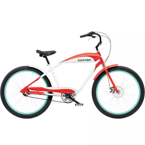 570964, EBC93 3I MENS, Electra, Mens Cruiser Bike, Red White, Spring 2020