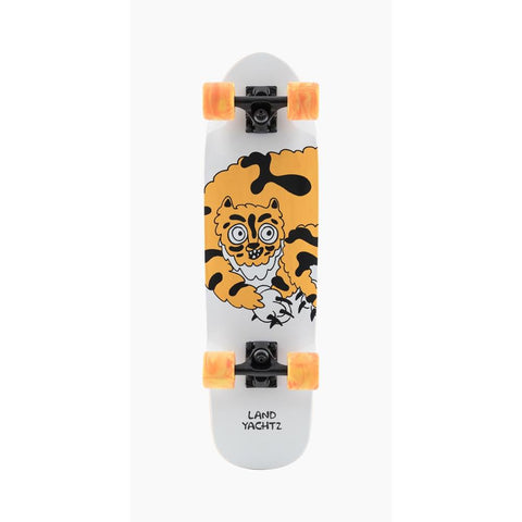 120CP-UBDYTGR, Landyachtz, Dinghy Tigor Complete, Complete Longboards, Mini Cruisers, White, Yellow, Orange