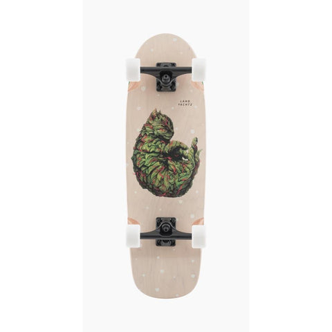 120CP-UBTBMW, Landyachtz, Tugboat Meowijuana Complete, Top Mount Longboards, Pink Green