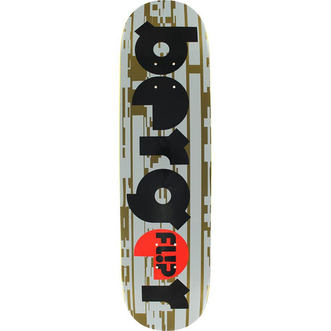 FL00166, Flip, Deck Berger Glitch, Skateboard Decks, Black, Brown, White