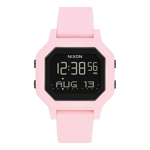 A1210-3154-00, Pink, Nixon, Siren Watch, Womens Rubber Band Watches