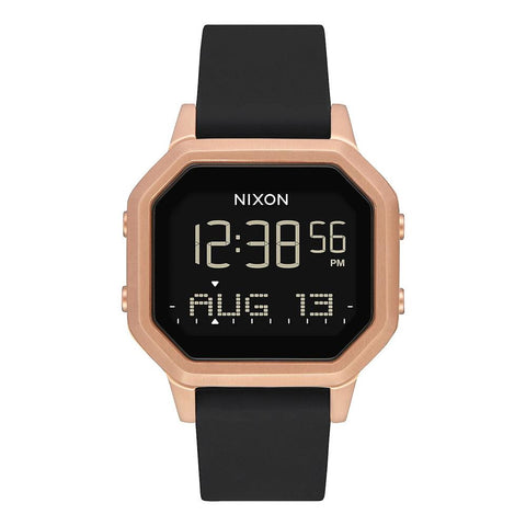 A1211-1098, Rose Gold/ Black, Siren SS, Nixon, Womens Watches, Rubber Band Watches,