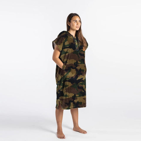 ST205, CAMO, SLOW TIDE, Regime Changing Poncho, BEACH TOWELS