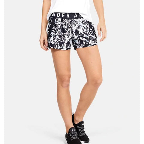 1351979-003, Black, White, Under Armour, Play Up 3.0 Shorts, Womens Shorts
