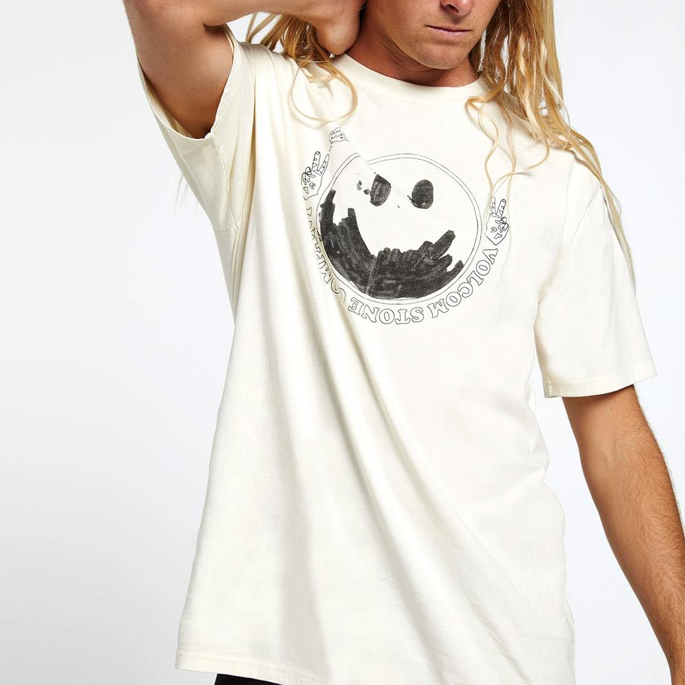 A4312003, Off White, T-Shirts, Short Sleeve, Volcom,