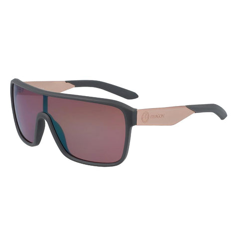 41445.6114021, Amp, Matte Grey LL Rose Copper Ion, Dragon, Mens Lifestyle Sunglasses,