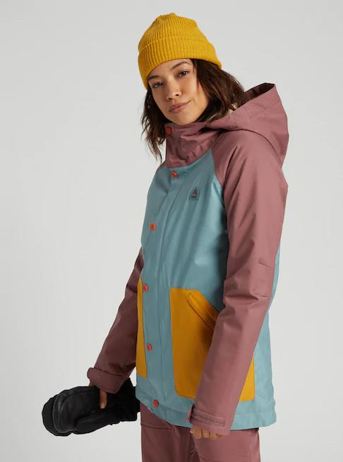 1501905200-burton-womens outerwear-Rose Brown / Trellis / Harvest Gold