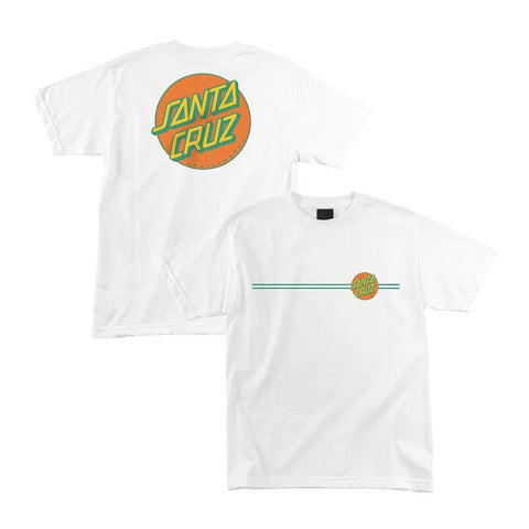 44152080-WHITE/GREEN/ORANGE-SANTA CRUZ-MENS T-SHIRTS