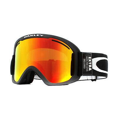 OO7112-01-OAKLEY-GOGGLES-MATTE BLACK WITH FIRE IRIDIUM