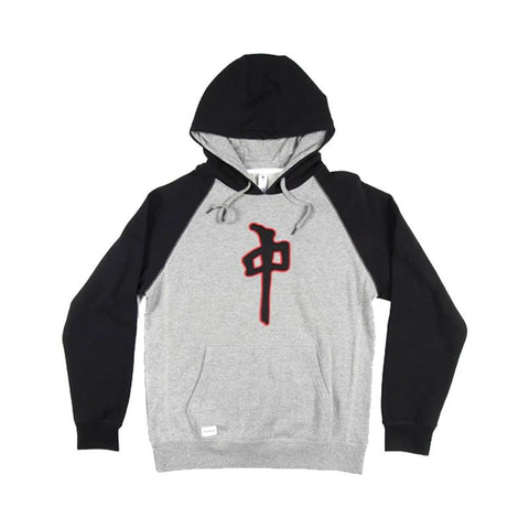 RD10126-RDS-MENS PULLOVER HOODIE-HEATHERGREY/BLACK/RED