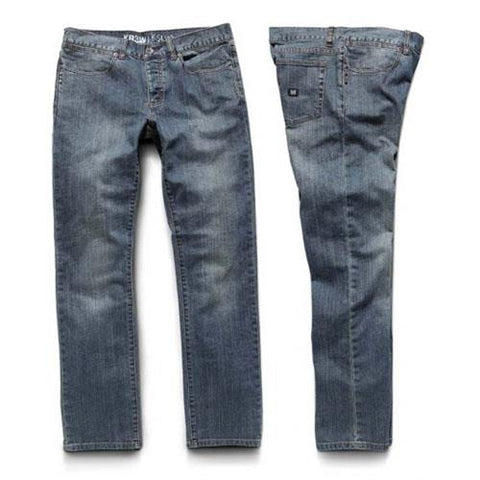 Kr3w K Slim Vintage Blue Mens Denim Jeans