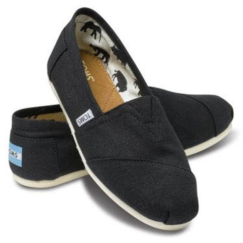 Toms Classic Canvas Womens Slip On Shoes