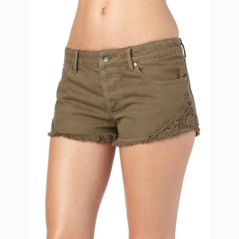 Roxy Breakin Crochet Womens Jean Shorts