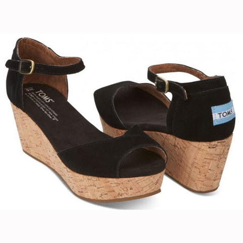 Toms Platform Wedge Womens Fashion Sandals