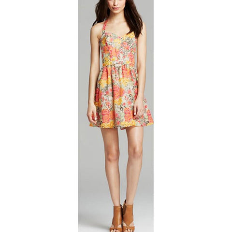 Guess Baha Floral Leopard Day Womens Sun Dresses