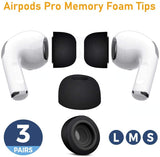 H-Pros Memory Foam Earbud Tips Set for Air Pro 3 (FREE 3-4 DAYS USA SHIPPING) - HAZZLER