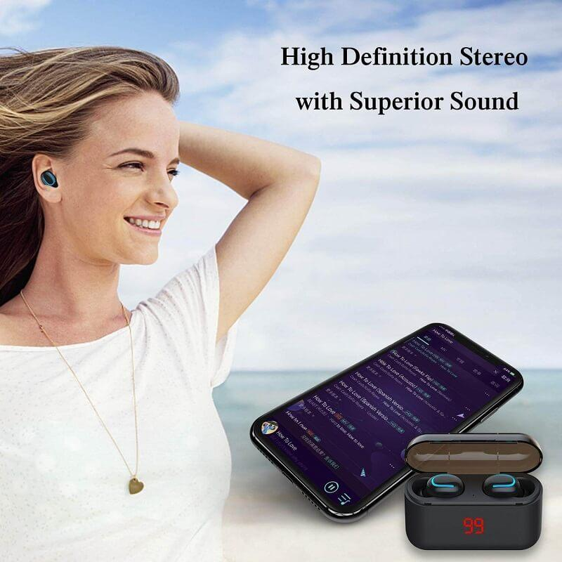 HBQ Q32 Stereo Mini Bluetooth Earbuds v2 (FREE 3-4 DAYS USA SHIPPING) - HAZZLER