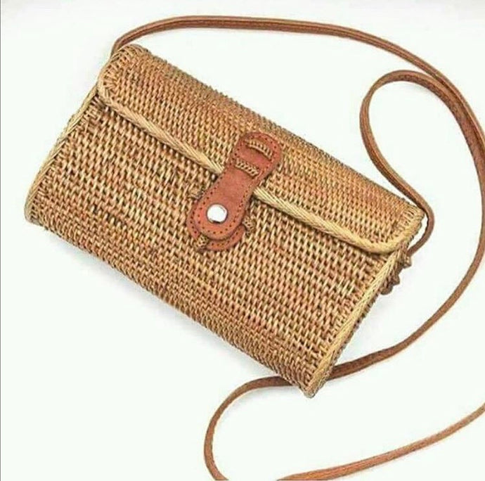 Messenger Rectangle Rattan Bag