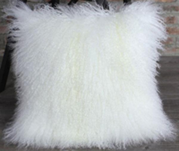Genuine Mongolian Fur Pillow Cover
