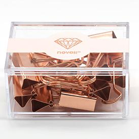 Rose Gold Metal Binder Clips And Paper Clips