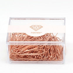 Rose Gold Metallic Paper Clip Set