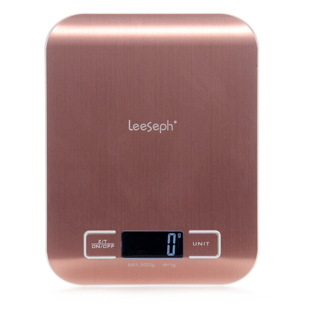 Rose Gold Stainless Steel Digital Kitchen Scale