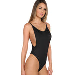 Black Scoop Back Bodysuit