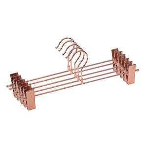 12 Pc Rose Gold Copper Metal Hangers