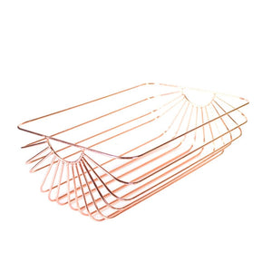 Rose Gold Wire Storage Basket