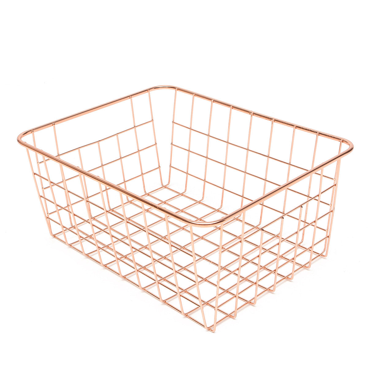 Rose Gold Copper Wire Basket
