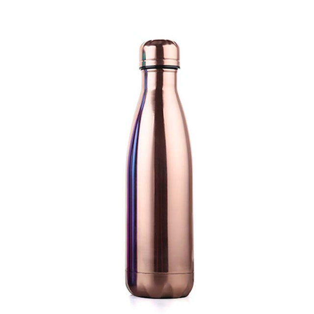 Rose Gold Stainless Steel Thermal Water Bottle