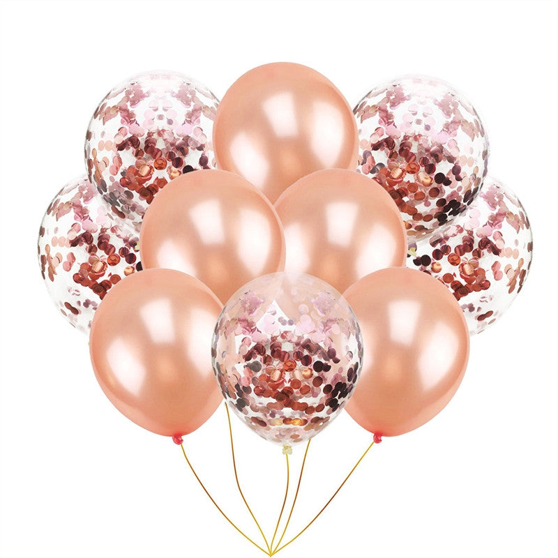 Rose Gold Paillette Confetti Balloons